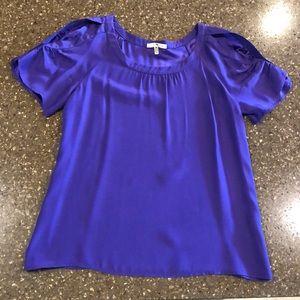 Velvet Heart Cold Shoulder Blouse Purple XS
